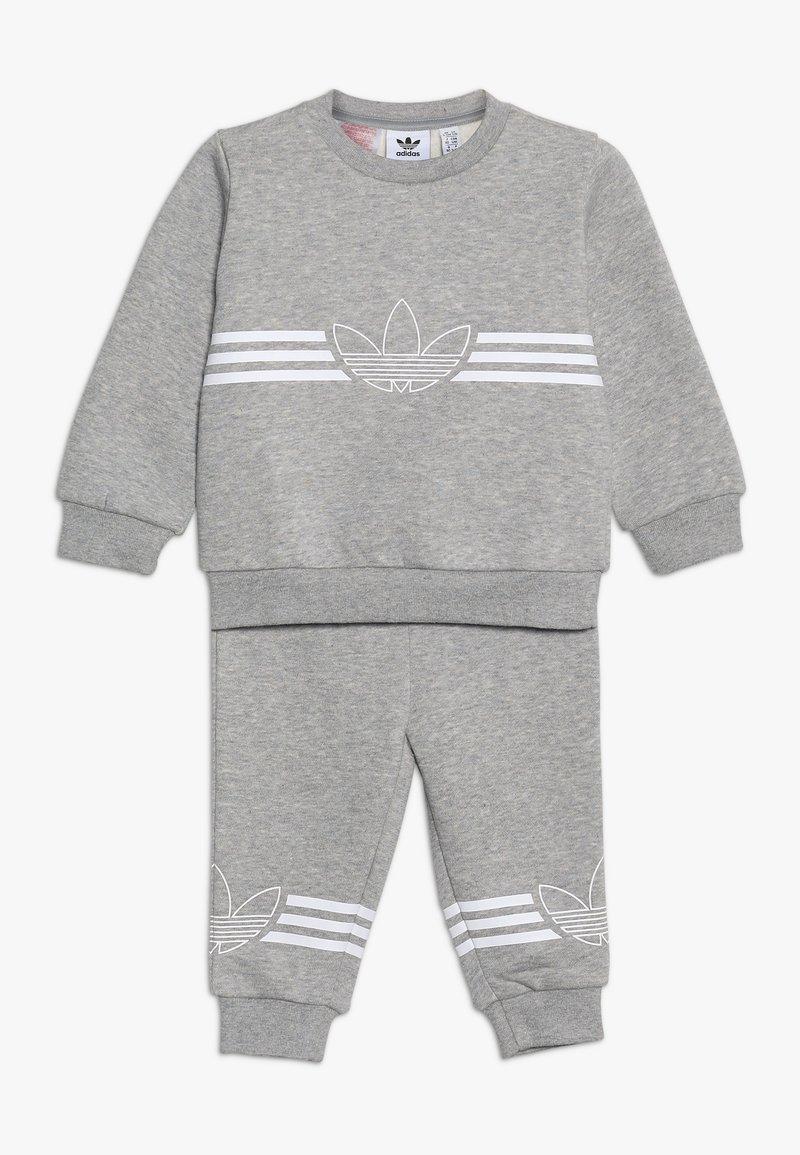 adidas Originals - OUTLINE CREW - Verryttelypuku - grey/white