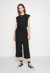 Vero Moda - VMEMILY CULOTTE PANT - Trousers - black - 1