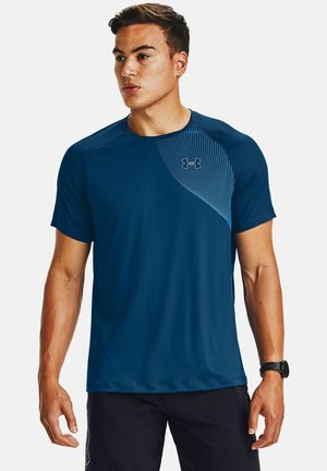 Print T-shirt - graphite blue