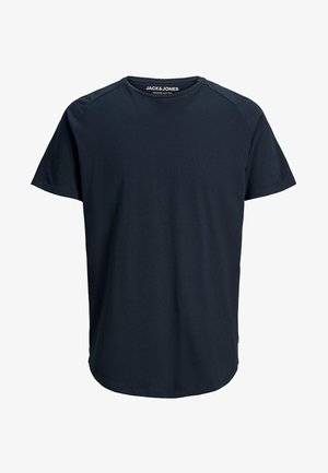 JJECURVED TEE O NECK - T-shirt - bas - navy blazer
