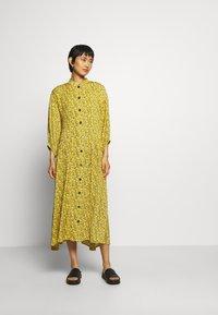 Gestuz - THALLOGZ LONG DRESS  - Shirt dress - yellow - 1