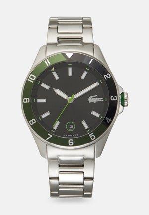 TIEBRAKER - Watch - silver-coloured/green