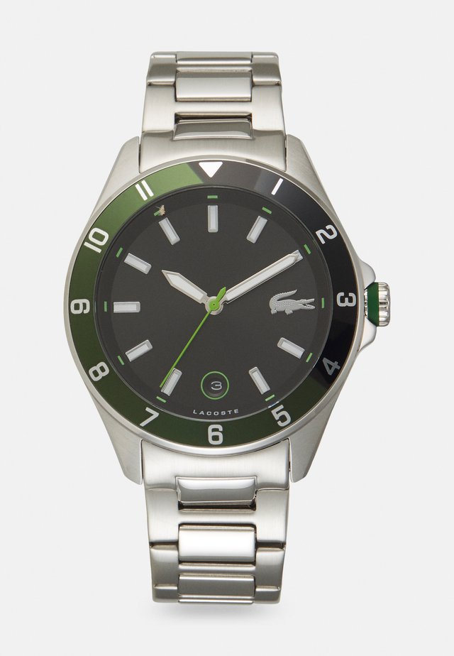 TIEBRAKER - Horloge - silver-coloured/green