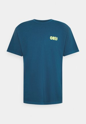 NO APATHY - T-shirt con stampa - blue sapphire