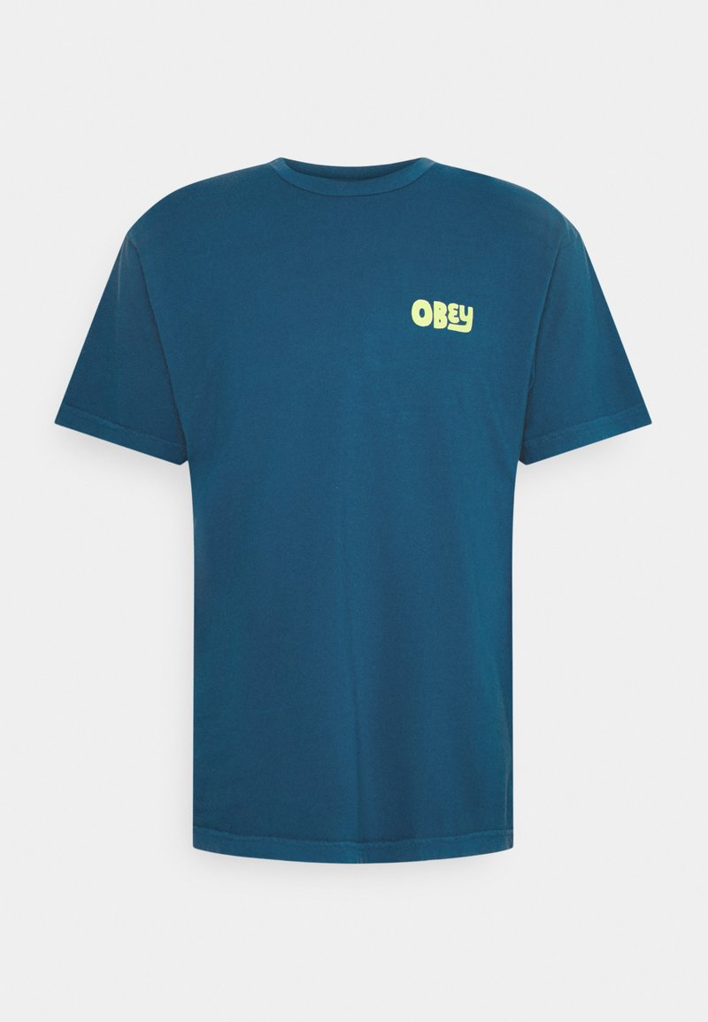 Obey Clothing - NO APATHY - Printtipaita - blue sapphire