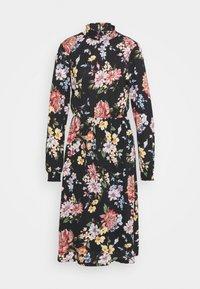 ONLY - ONLLENA FLOWER MIDI DRESS - Žerzejové šaty - black - 3