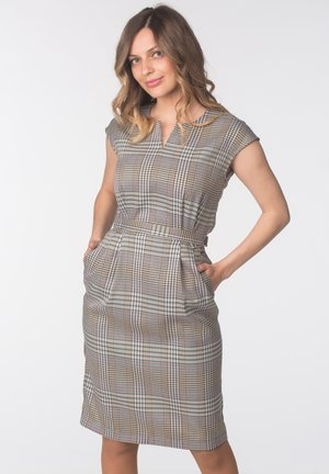 DRESS VALENCIA - Hverdagskjoler - brown check