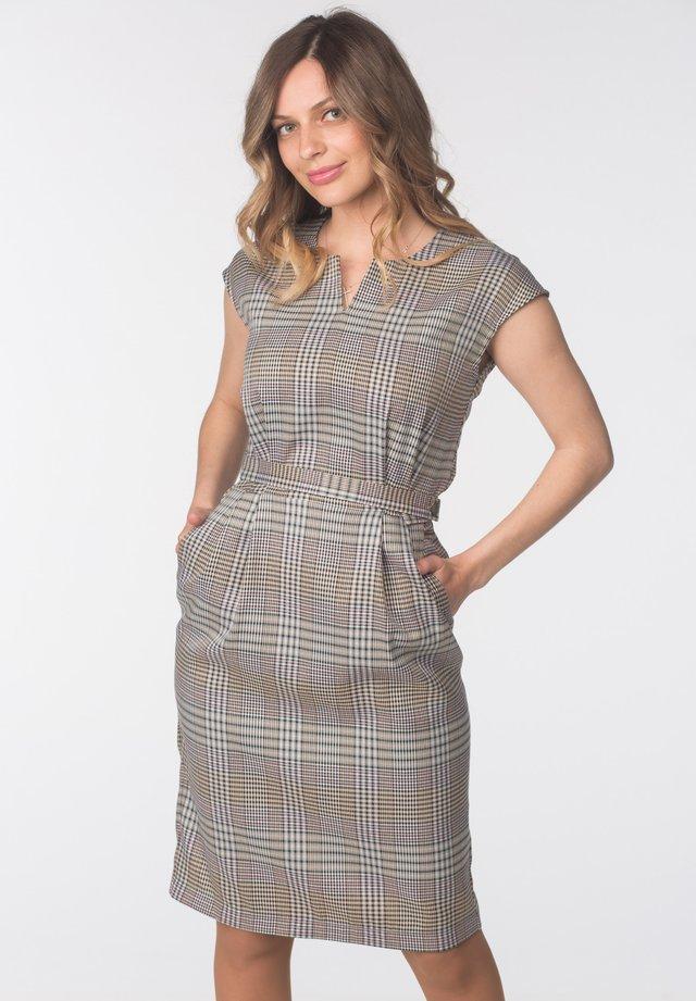 DRESS VALENCIA - Vapaa-ajan mekko - brown check