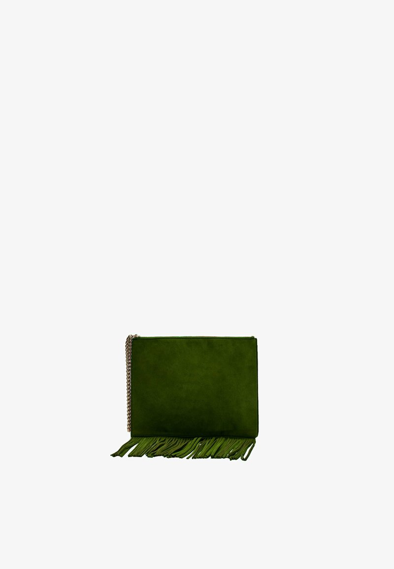 Uterqüe - MIT FRANSEN  - Clutch - green