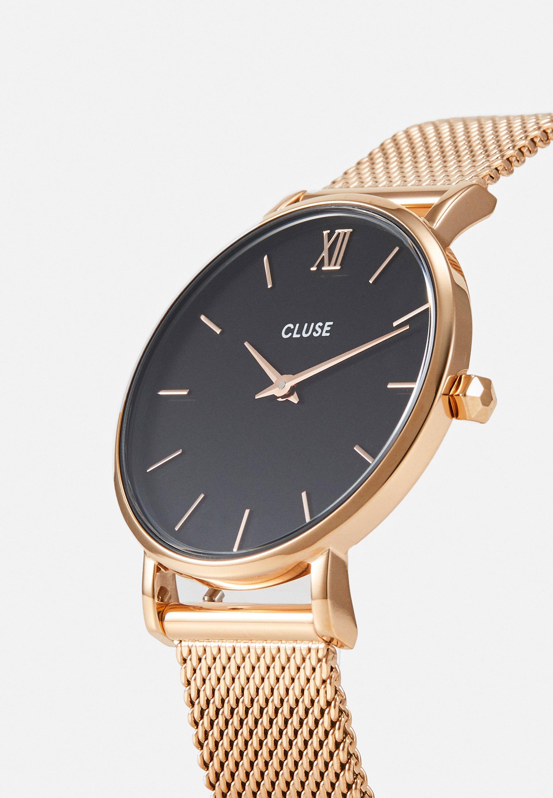 Cluse MINUIT - Horloge - rose gold-coloured/black - Dameshorloge Adviseren