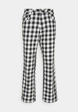 NINETY TWOS GINGHAM RELAXED FIT PANT - Kangashousut - black/white