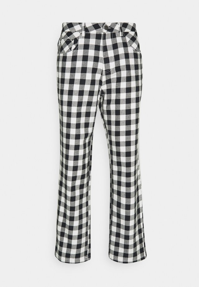 NINETY TWOS GINGHAM RELAXED FIT PANT - Pantaloni - black/white