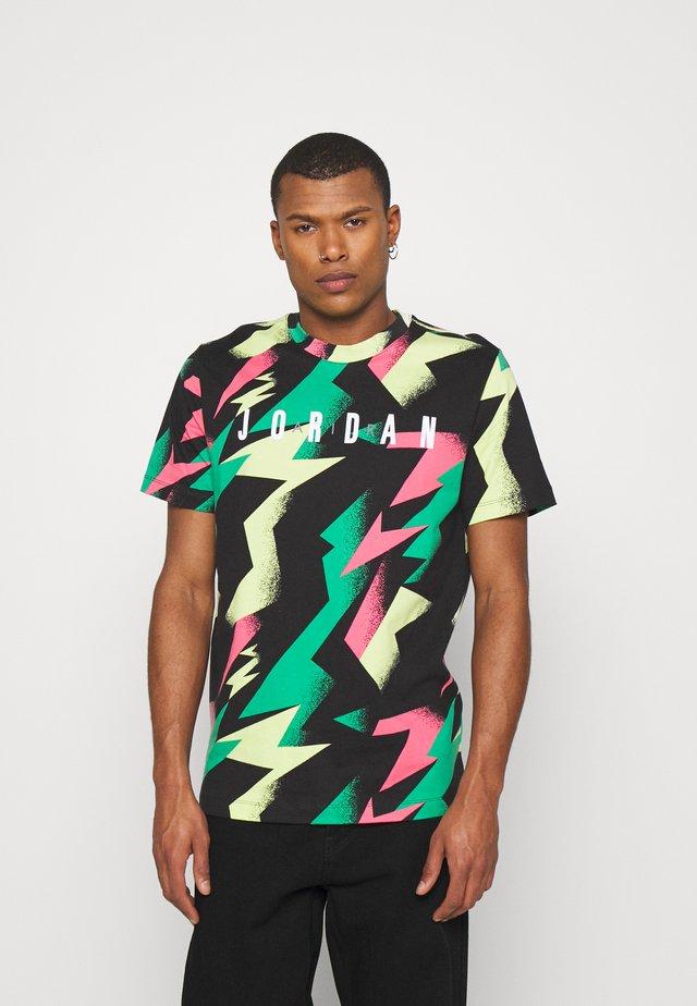 JUMPMAN AIR CREW - T-shirt imprimé - black/sunset pulse