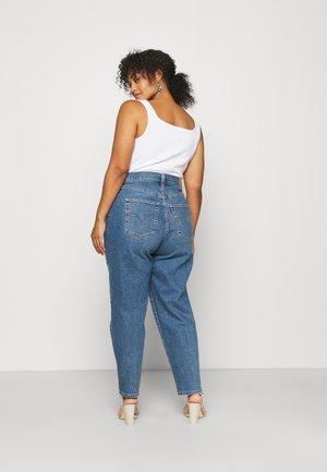 HIGH WAISTED MOM - Straight leg jeans - blue denim