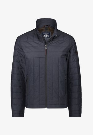 Winter jacket - dark-blue/dark-brown