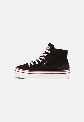 MID FLATFORM VULC - Sneakers alte - black