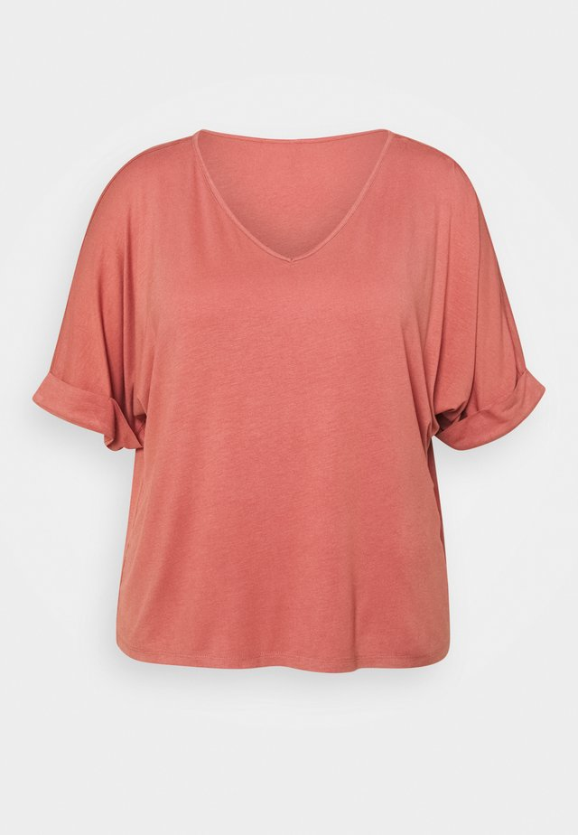 PCNEORA FOLD UP - Basic T-shirt - canyon rose