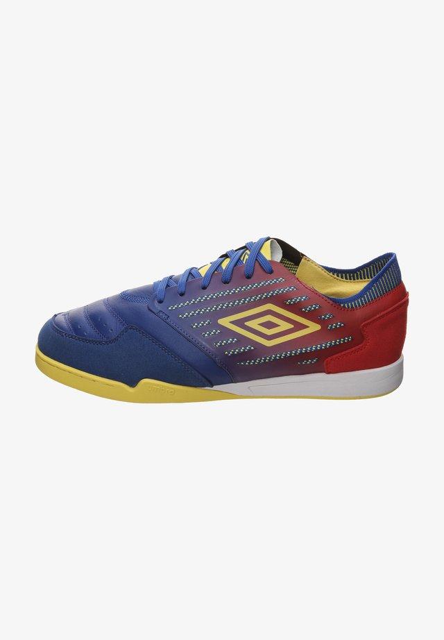 CHALEIRA II PRO - Indoor football boots - deep surf / golden kiwi / toreador