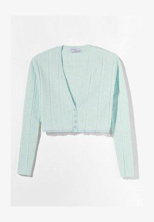 MIT KNÖPFEN  - Cardigan - turquoise