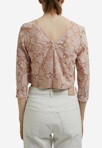 Esprit Collection - LACE SHIRT - Print T-shirt - nude - 5