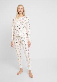 Chelsea Peers - FLAMINGOS - Pijama - white/rose gold - 1