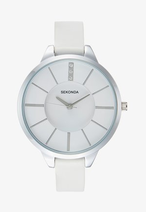 LADIES WATCH ROUND CASE - Klokke - white