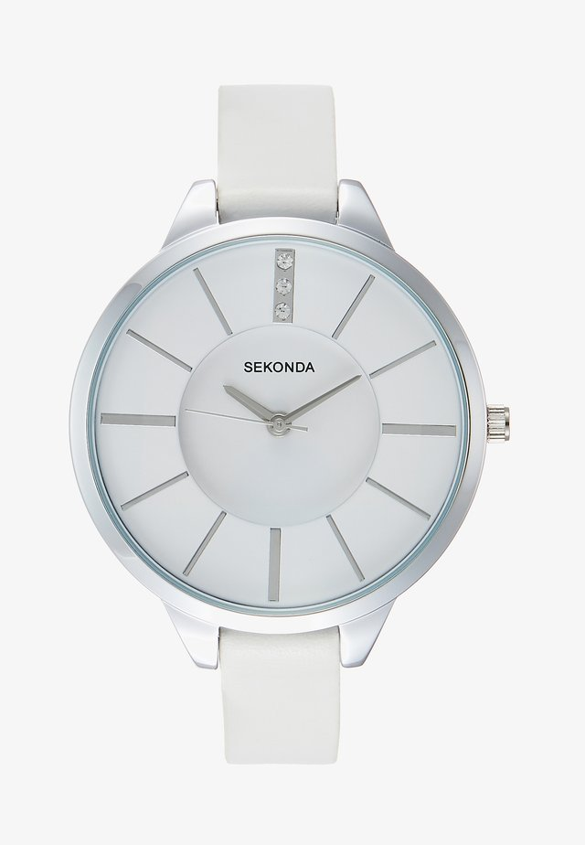 LADIES WATCH ROUND CASE - Watch - white