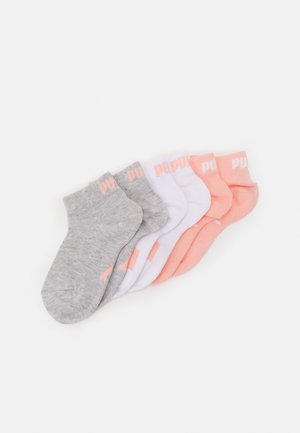 KIDS QUARTER 6 PACK UNISEX - Socks - coral