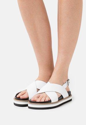 ANDREA - Korkeakorkoiset sandaalit - white