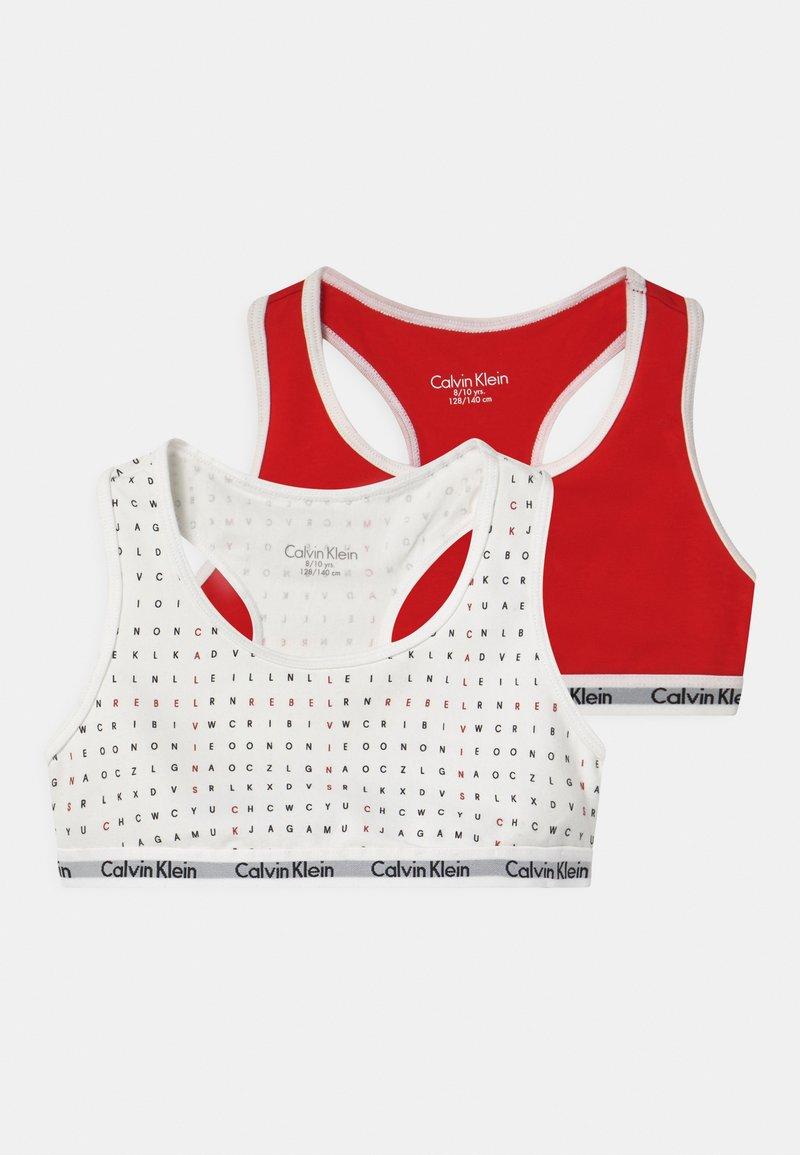 Calvin Klein Underwear - 2 PACK - Bustier - white/rapid red