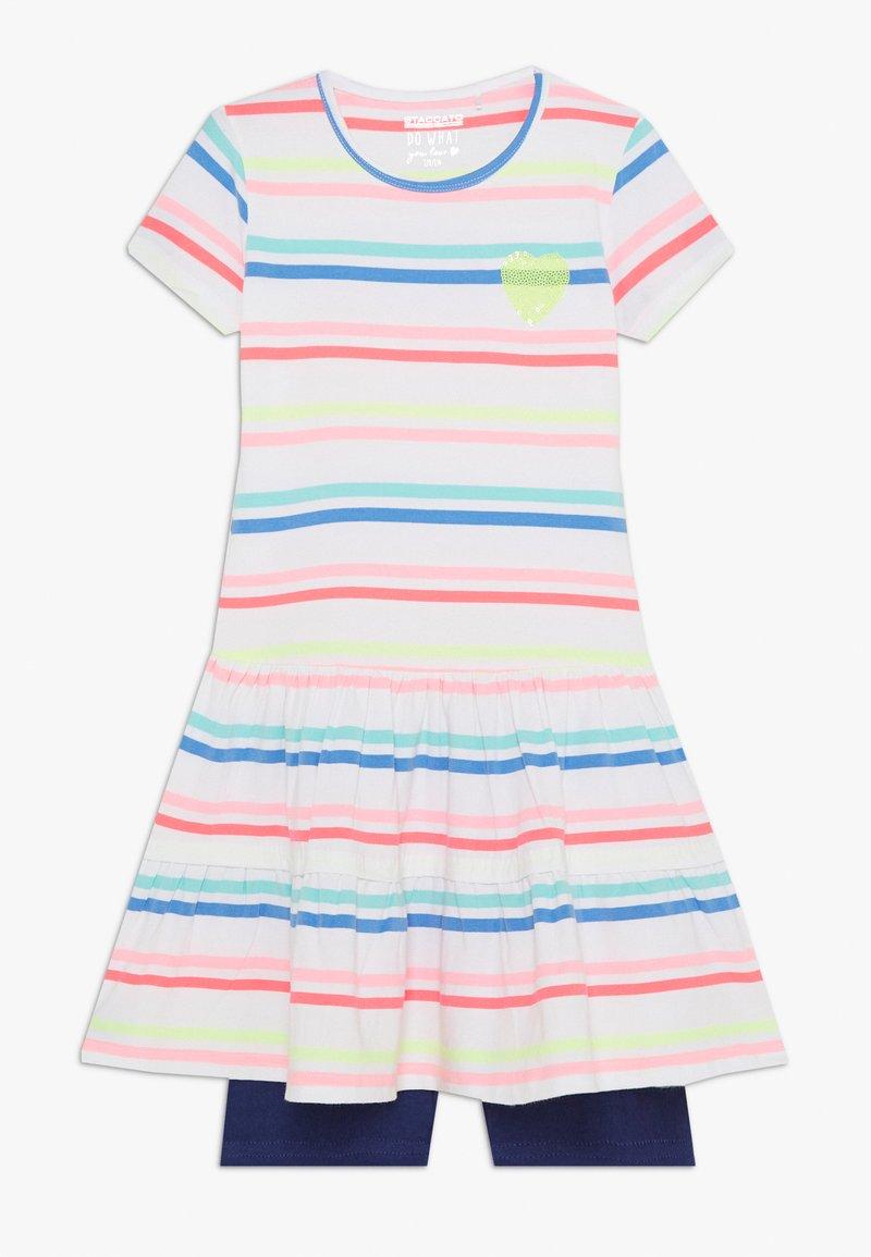 Staccato - KID RADLER - Leggings - soft white/blue