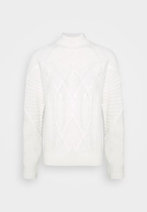 CABLE HIGH NECK JUMPER - Maglione - ivory