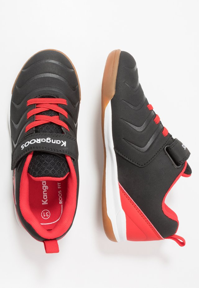 SPEED COMB - Sneakers laag - jet black/fiery red