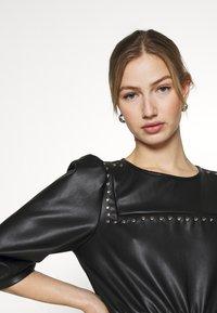 Noisy May - NMHILL SLEEVE STUD DRESS - Sukienka letnia - black - 3