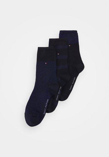 WOMEN SOCK SPARKLE GIFTBOX 3 PACK - Socks - navy