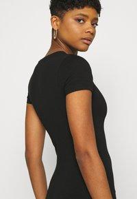 Cotton On - ESENTIAL SHORT SLEEVE BODYCON MIDI DRESS - Shift dress - black - 4