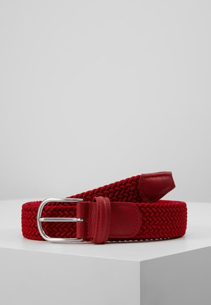 STRECH BELT UNISEX - Braided belt - red