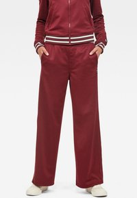 G-Star - LUCAY WIDE TRACK PANT WMN - Trousers - port red - 0