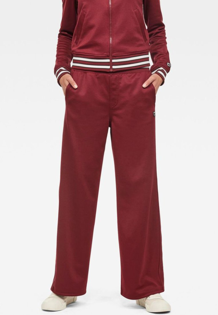 G-Star - LUCAY WIDE TRACK PANT WMN - Trousers - port red