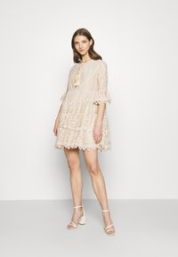 River Island - LUXE SMOCK - Cocktail dress / Party dress - offwhite - 1