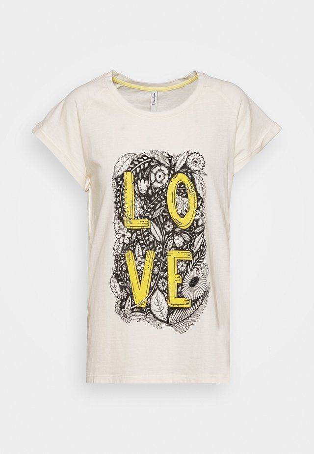BSUMMA TURN UP - T-shirt con stampa - white swan