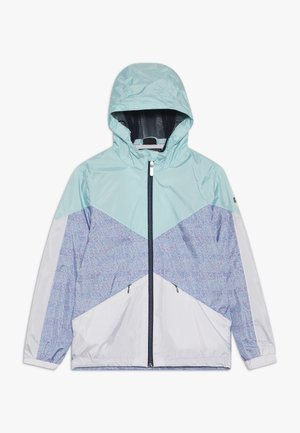 MAELEE - Waterproof jacket - turquoise/grey/white