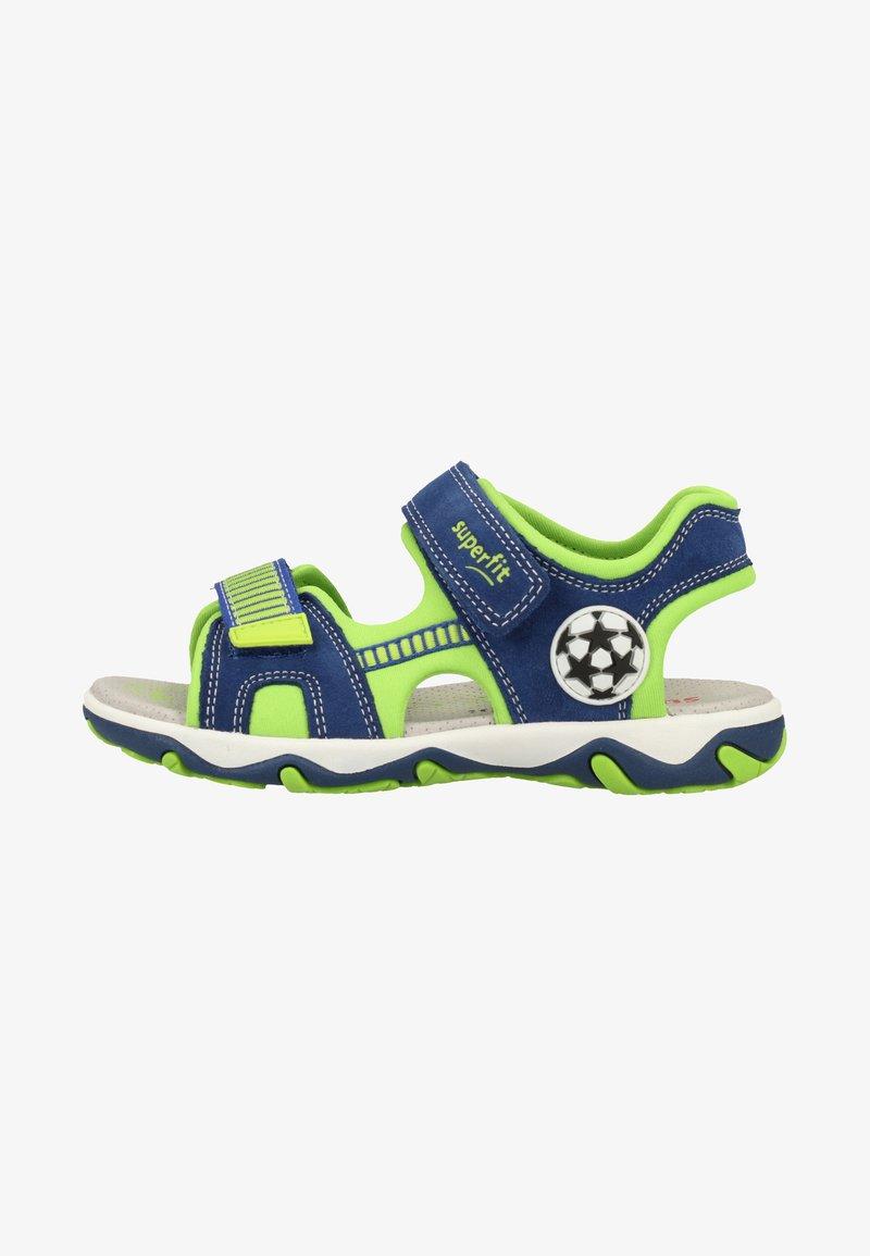 Superfit - Walking sandals - blue/green