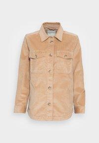 TOM TAILOR DENIM - CORDUROY SHACKET - Light jacket - dark sand beige - 3