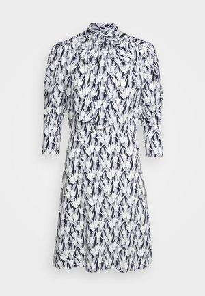 SCARF NECK SURREAL HANDS TWILL MINI DRESS - Korte jurk - blue