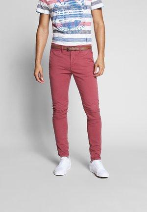 Chino kalhoty - light maroon