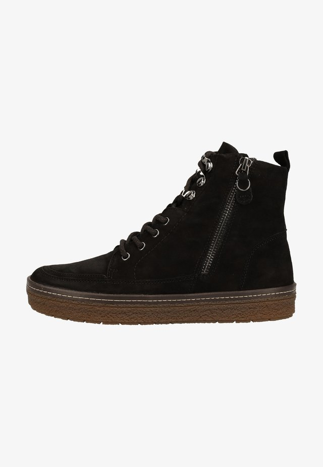 Ankle boot - black suede 004