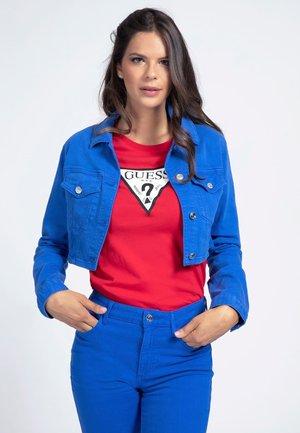 CROPPED KNÖPFE - Denim jacket - königsblau