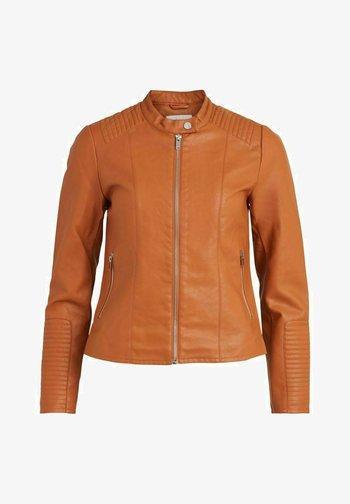 Faux leather jacket - adobe