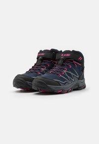 Hi-Tec - BLACKOUT MID WP UNISEX - Hiking shoes - navy/magenta - 1